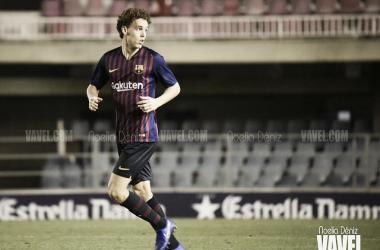 Jandro en su debut en el Barça B / Foto: Noelia Déniz (VAVEL)
