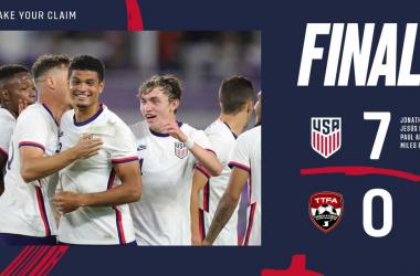Cátedra de Estados Unidos en el primer partido de 2021 ante Trinidad y Tobago en Orlando | Fotografía: U.S.Soccer