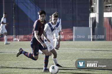 Jardí, en el partido del Juvenil A contra el Europa. Foto: Noelia Déniz.