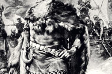 """Representación idealizada de un """"Jarl"""" o noble vikingo. Fuente: Wikicomons"""
