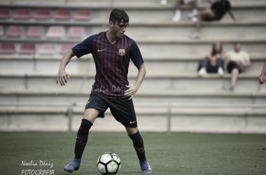 Jaume Jardí con el FCB Juvenil B. Foto: Noelia Déniz, VAVEL