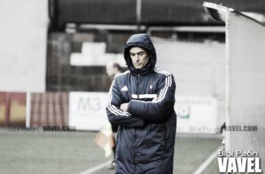 Javi López durante un encuentro cuando era entrenador // Imagen: VAVEL