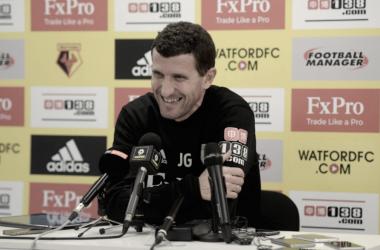"""Javi Gracia: """"Estamos necesitados de puntos para alcanzar nuestro objetivo"""""""
