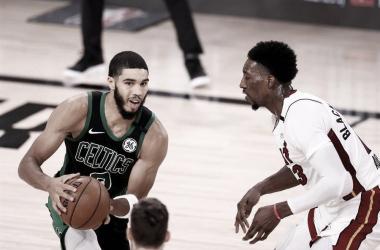 Jayson Tatum siente el Heat de Miami