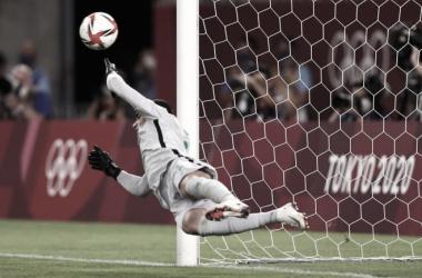 Brasil superó 4-1 a México en la tanda de penaltis y se enfrentará España el sábado 7 de agosto por la presea de oro | Fotografía: Tokio 2020