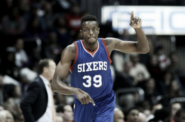 Jerami Grant in action for the 76ers.   USA TODAY Sports