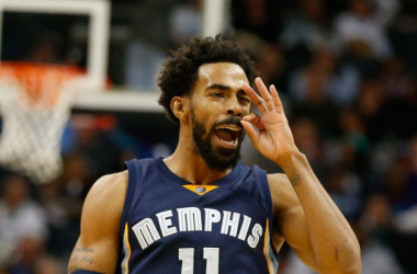 Mike Conley celebrates after hitting a three pointer (Jeremy Brevard/USA TODAY Sports)