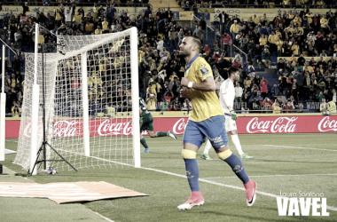 Jese Rodríguez celebra su gol ante el Real Betis | Fotografía: Laura Santana // VAVEL