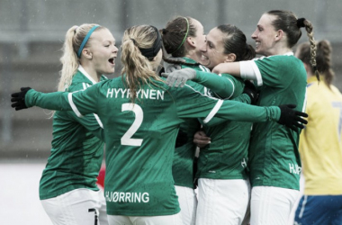 Fortuna Hørring were the ones celebrating at the end of a long season. Source: Jess Madsen / fodboldfoto.dk