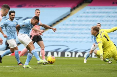 Manchester City 1-0 Sheffield United: Jesus sends City four points clear