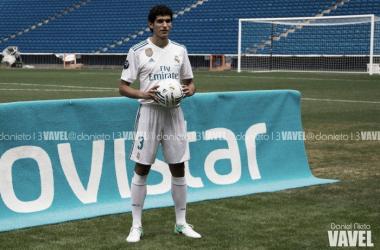 Jesús Vallejo, el día de su presentación con el Real Madrid. I Foto: Daniel Nieto (VAVEL)