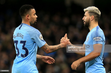 <div>Sergio Aguero and Gabriel Jesus have rotated their position in the Manchester City team this season | Photo: Getty/ Matt McNulty - Manchester City<br></div>