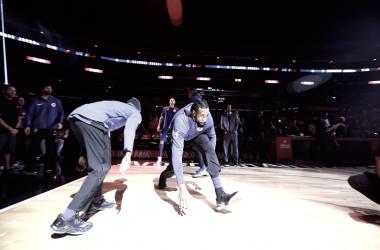DeAndre Jordan antes de un partido de temporada regular. Foto vía: NBA.com