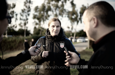 Head coach of the U.S.Women's National Team, Jill Ellis, during the first camp of 2017 (Photo: Jenny Chuang/ Vavel USA)