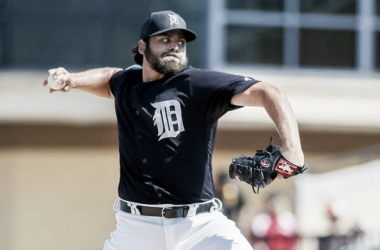 Detroit Tigers' Michael Fulmer pitches during an exhibition game against the Pittsburgh Pirates at Joker Marchant Stadium. (Kimberly P. Mitchell, Detroit Free Press)