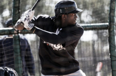 Tigers centerfielder Cameron Maybin takes batting practice during spring training at Joker Marchant Stadium on Feb. 25. (Photo: Kimberly P. Mitchell DFP)