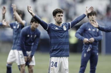 Jimmy tras su debut en Segunda | Imagen: Real Oviedo