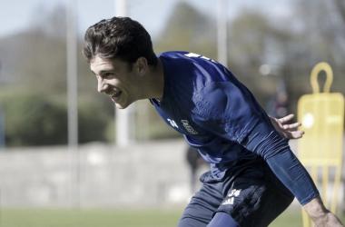 Jimmy, durante un entrenamiento | Imagen: Real Oviedo