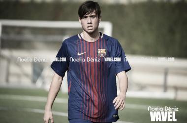 Jaume Jardí con el FCB Cadete A. Foto: Noelia Déniz, VAVEL