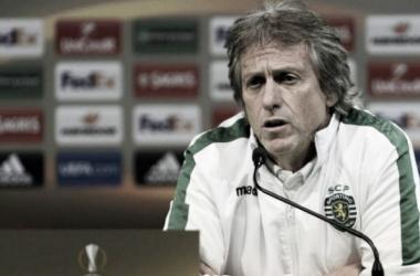 Jorge Jesús en rueda de prensa | Foto: Twitter Sporting