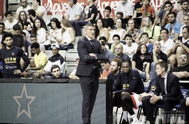 Javi Juárez durante un partido de la Basketball Campions League | Foto: Álvaro García (VAVEL)