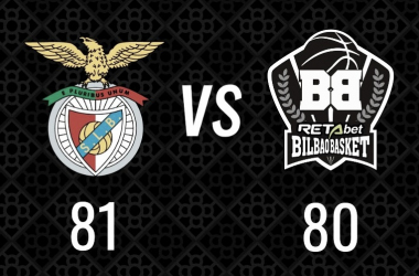 Marcador final del encuentro / Foto: Bilbao Basket (Twitter)