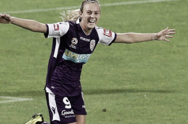 Hill has a league-leading seven goals for Perth Glory FC | Source:  PFA.net