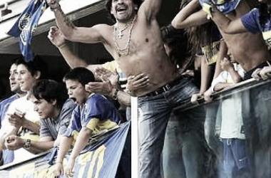 Maradona en su lugar en el mundo. Fuente: LaBombonera.com.ar