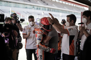 Marc entrando al box después de la carrera // motogp.com