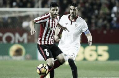 Vicente Iborra e Eneko Bóveda enel Sevilla-Athletic del pasado jueves. Foto: La Liga