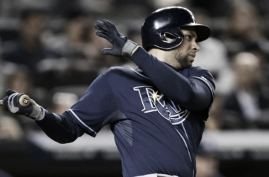 James Loney at the dish for Tampa Bay against the New York Yankees. (Kathy Willens/AP)