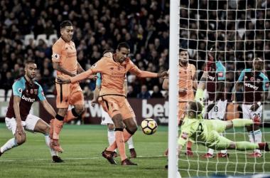 Matip anotando o segundo gol (Foto: Divulgação/Liverpool)