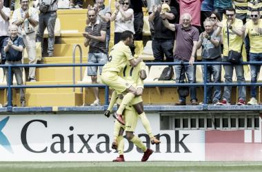 El Villarreal B, celebrando un gol | Foto: LaLiga