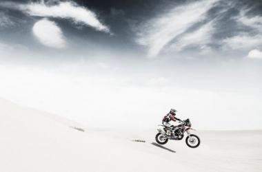 Barreda, el primer rey del Dakar   Foto: Honda Racing