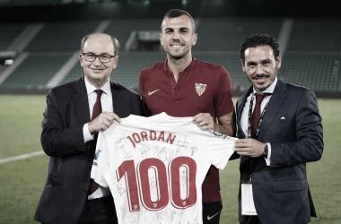Jordan llega a los 100 partidos como sevillista