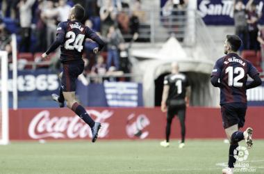 Joan Jordán celebra su gol frente al Alavés (FOTO:// LaLiga)