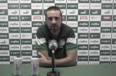 João Martins após Palmeiras 3 a 0 São Caetano (TV Palmeiras/FAM / Reprodução)