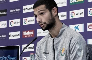 Joaquín durante la rueda de prensa en Zorrilla | Real Valladolid