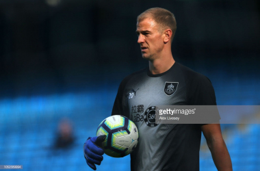 Joe Hart made his first appearance against his former club at the Etihad but couldn't prevent a defeat for The Clarets' (Image: Getty Images: Alex Livesey)