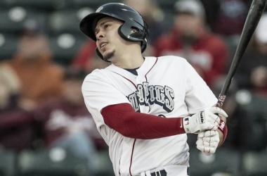 El 1B Joey Meneses en la sucursal de los Phillies de Philadelphia, los IronPigs deLehigh Valley.