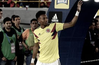 Mojica en un partido con Colombia | Fotografía: FCF.com