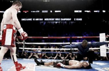 Canelo Alvarez knocks out Amir Khan, Golovkin on the horizon