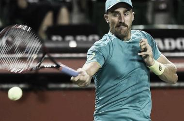 Johnson, durante un partido. Foto: ATP