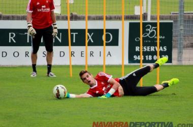 Jokin Ezkieta durante un entrenamiento con Osasuna | Foto: NavarraDeportiva.com
