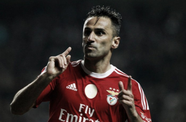 Jonas, o matador com pés de craque // Foto: Facebook do SL Benfica