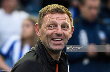 Graeme Jones manager of Luton Town reacts prior to the Sky Bet Championship match between Sheffield Wednesday and Luton Town at Hillsborough Stadium on August 20, 2019 in Sheffield, England. (Photo by George Wood/Getty Images)