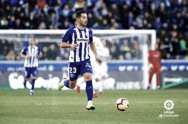 Jony con el Alavés en el partido que se enfrentó al Valencia. | Foto: LaLiga