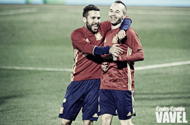 "Jordi Alba: ""Hemos sido campeones de grupo"" Foto: Carla Cortés (VAVEL)"