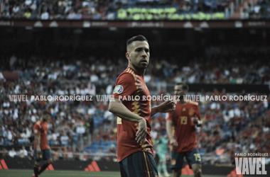 Jordi Alba jugando con España. FOTO: Pablo Rodríguez