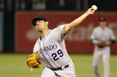 Jorge De La Rosa tosses 7 scoreless and leads Rockies to 2-1 victory. USA Today Sports/Kelley L Cox